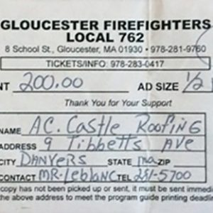 Gloucester Firefighters Local 762 $200