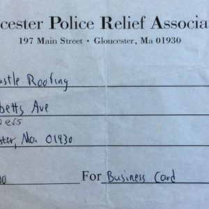 Gloucester Police Relief Association $100
