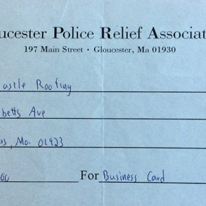 Gloucester Police Relief Association $100 Donation