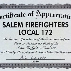 Salem Firefighters Local 172 2010