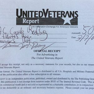 United Veterans Report Receipt