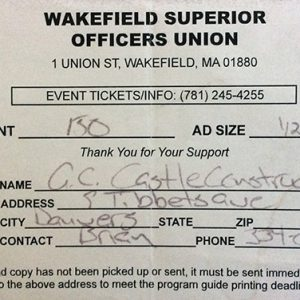 wakefield-superior-officers-union-150-donation